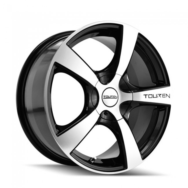 Touren TR9 Machiné Black / Noir Machiné, 18X8, 5x100/114.3 ,(déport/offset 40 ) 72.62