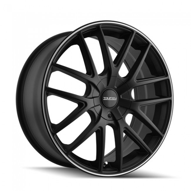 Touren TR60 Matte Black Machine Lip / Noir Mat Rebord Machiné, 17X7.5, 4x108 ,(déport/offset 42 ) 72.62