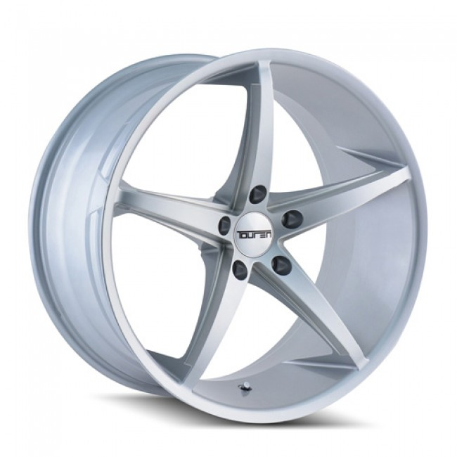 Touren TR70 Machiné Silver / Argent Machiné, 20X8.5, 5x112 ,(déport/offset 30 ) 66.56