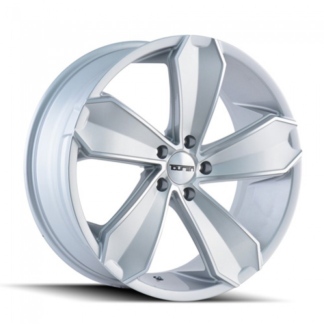 Touren TR71 Machiné Silver / Argent Machiné, 18X8, 5x112 ,(déport/offset 35 ) 66.56