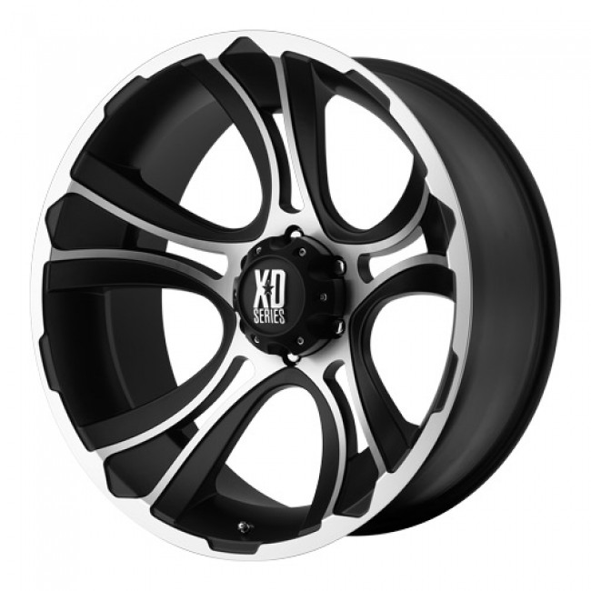 KMC Wheels Crank, Matt Black Machine wheel