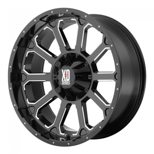 KMC Wheels Bomb, Gloss Black Machine wheel