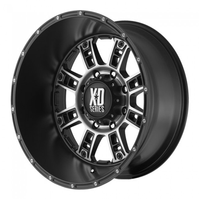 KMC Wheels Riot, Matt Black Machine wheel