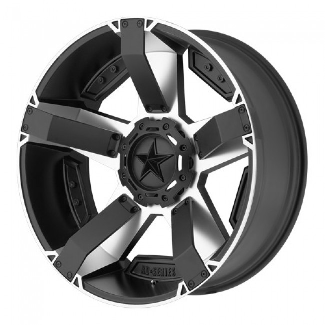 KMC Wheels RS2, Matt Black Machine wheel