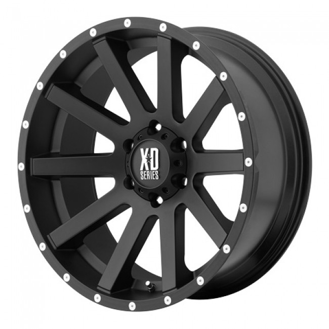 KMC Wheels Heist, Satin Black wheel