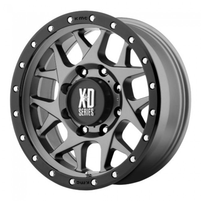 XD Series by KMC Wheels XD127 BULLY, Matte Gun Metal wheel