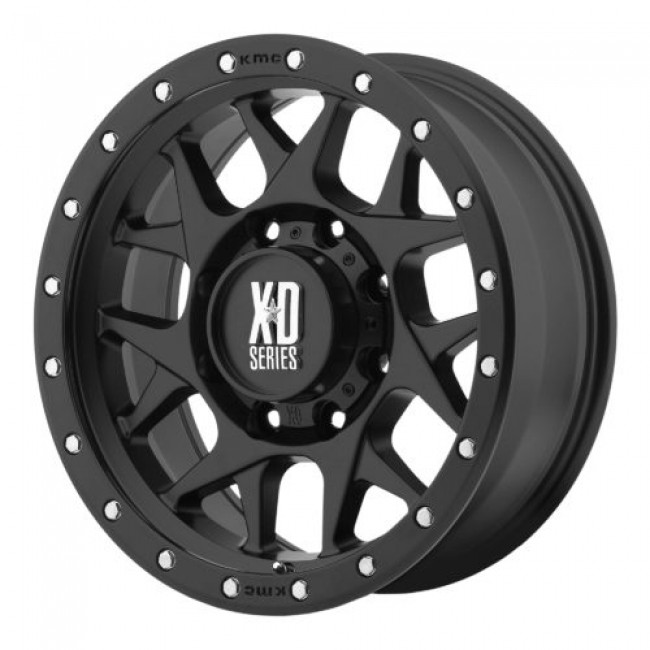 XD Series by KMC Wheels XD127 BULLY, Satin Black wheel