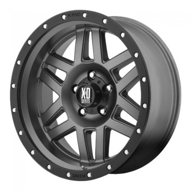 XD Series by KMC Wheels XD128 MACHETE, Matte Gun Metal wheel