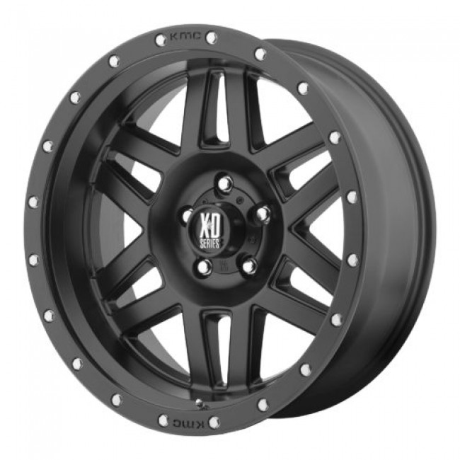 XD Series by KMC Wheels XD128 MACHETE, Satin Black wheel