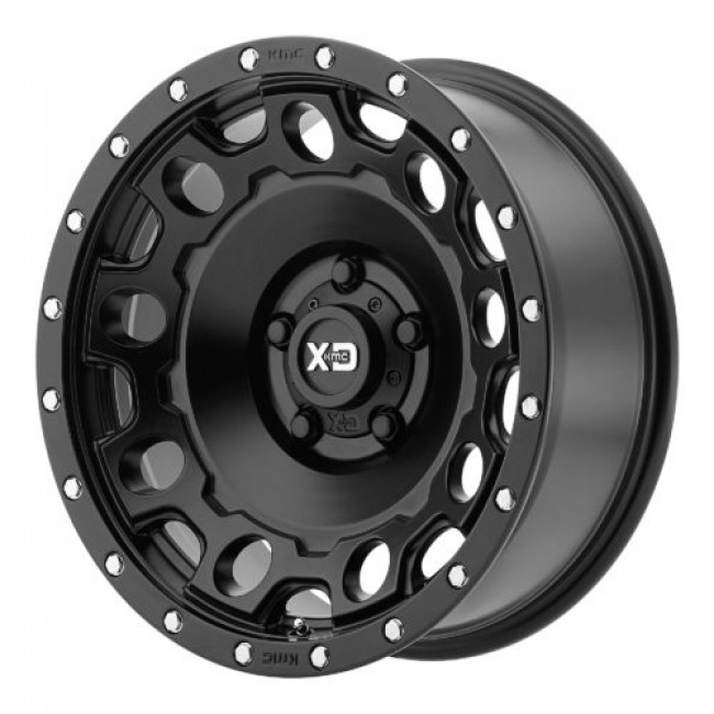 XD Series by KMC Wheels XD129 HOLESHOT, Satin Black wheel