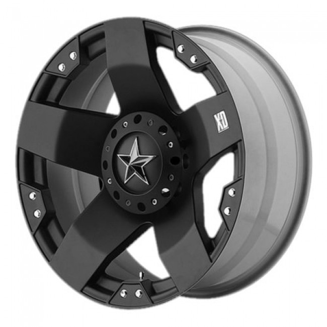 XD Series by KMC Wheels XD775 ROCKSTAR, Matte Black wheel