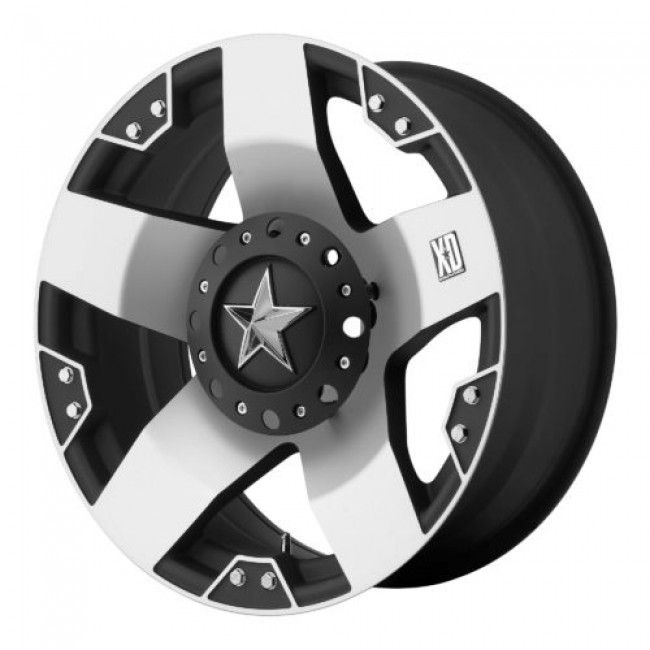 XD Series by KMC Wheels XD775 ROCKSTAR, Matt Black Machine wheel