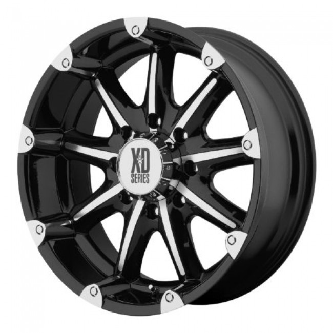 XD Series by KMC Wheels XD779 BADLANDS, Gloss Black Machine wheel
