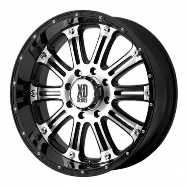 XD Series by KMC Wheels XD795 HOSS, Gloss Black Machine wheel
