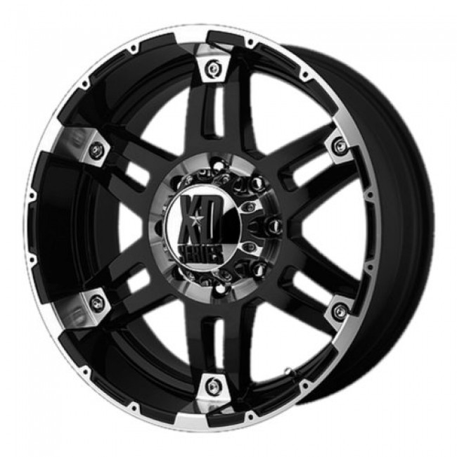 XD Series by KMC Wheels XD797 SPY, Gloss Black Machine wheel