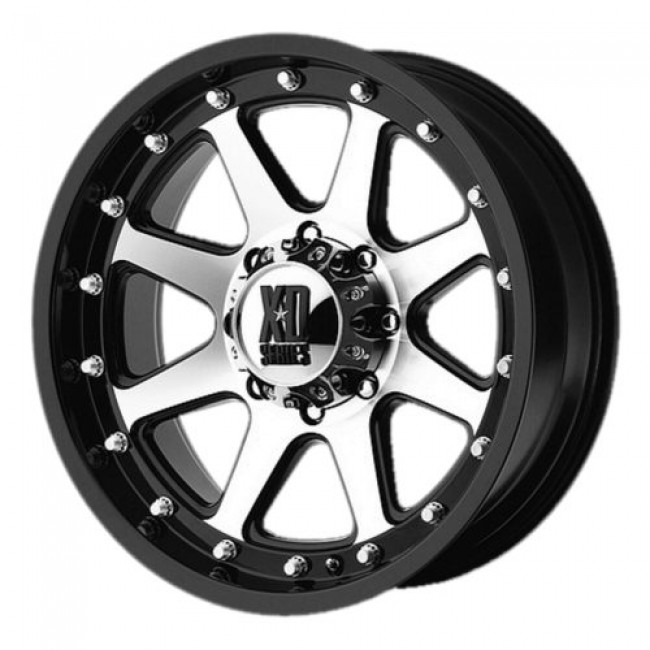 XD Series by KMC Wheels XD798 ADDICT, Matt Black Machine wheel