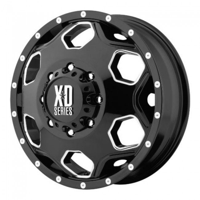 XD Series by KMC Wheels XD815 BATALLION, Gloss Black Machine wheel