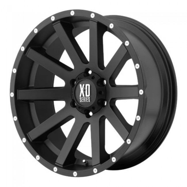 XD Series by KMC Wheels XD818 HEIST, Machine Black wheel