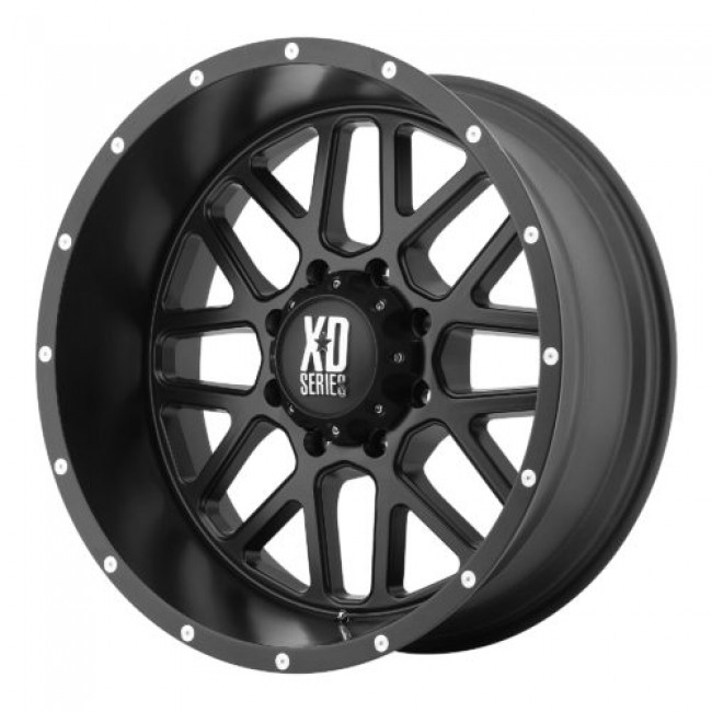 XD Series by KMC Wheels XD820 GRENADE, Satin Black wheel