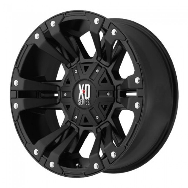XD Series by KMC Wheels XD822 MONSTER II, Matt Black Machine wheel