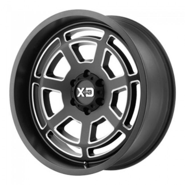 XD Series by KMC Wheels XD824 BONES, Machine Black wheel