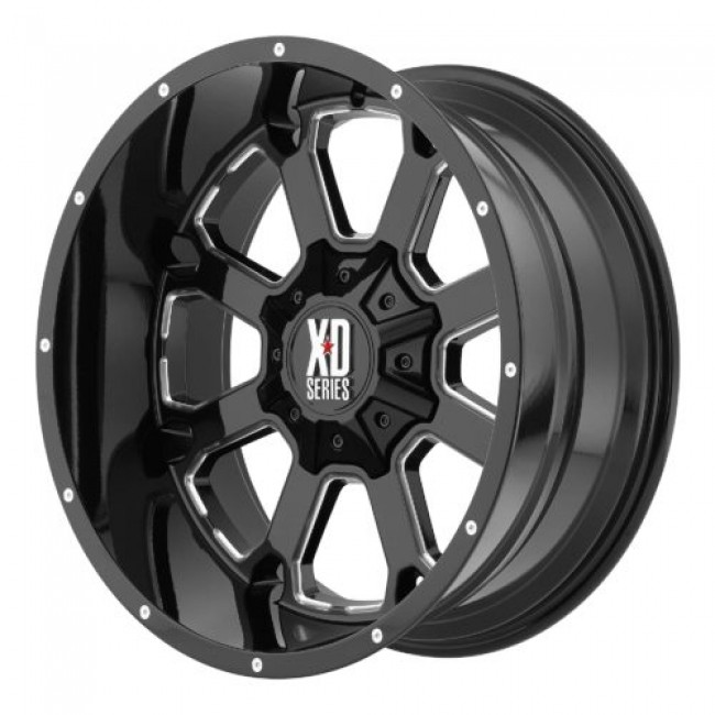 XD Series by KMC Wheels XD825 BUCK 25, Gloss Black Machine wheel