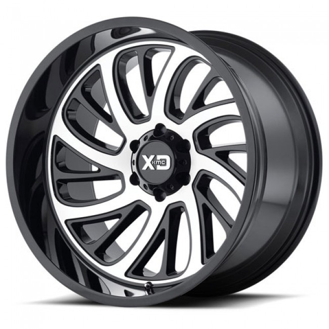 XD Series by KMC Wheels XD826 SURGE, Gloss Black Machine wheel