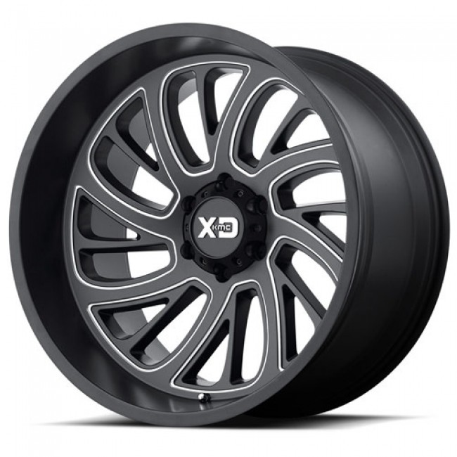XD Series by KMC Wheels XD826 SURGE, Machine Black wheel