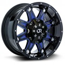 RTX Wheels Spine blue accents wheel