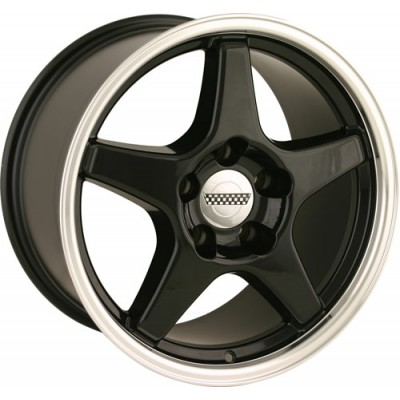 Detroit  840 Black Machine Lip wheel (17X11, 5x120.65, 70.7, 50 offset)