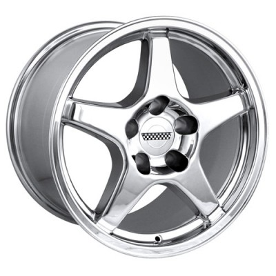 Detroit  840 Chrome wheel (17X9.5, 5x120.65, 70.7, 56 offset)