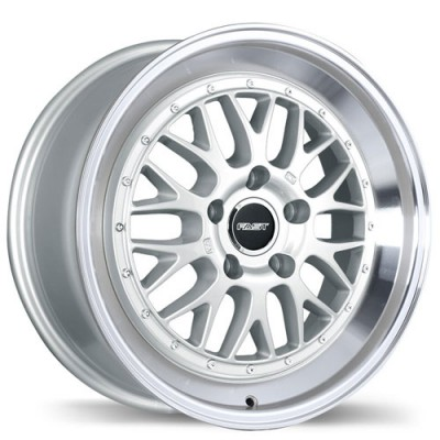 Fastwheels Cartel Machine Silver wheel (18X8, 5x100, 73, 35 offset)