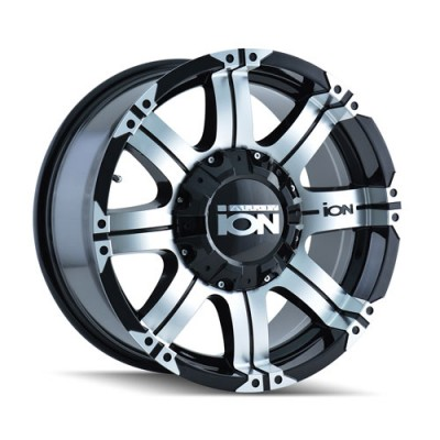 Alloy Ion 187 Machine Black wheel (17X9, 6x139.7, 108.1, -12 offset)