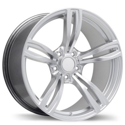Replika Wheels R141A Hyper Silver wheel (19X8.5, 5x120, 72.6, 35 offset)