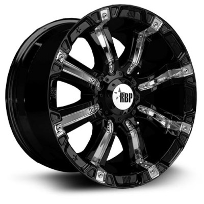 RBP 94R Matte Black wheel (17X9, 5x139.7, 108, 0 offset)