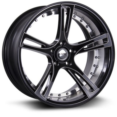 RTX Wheels Assassin Machine Black wheel (20X9, 5x114.3, 73.1, 38 offset)