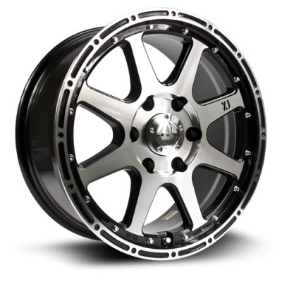 RTX Wheels Granite Machine Black wheel (17X7.5, 6x139.7, 78, 30 offset)