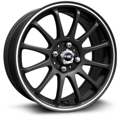 RTX Wheels Halo Machine Black wheel (15X6.5, 4x100, 73.1, 38 offset)
