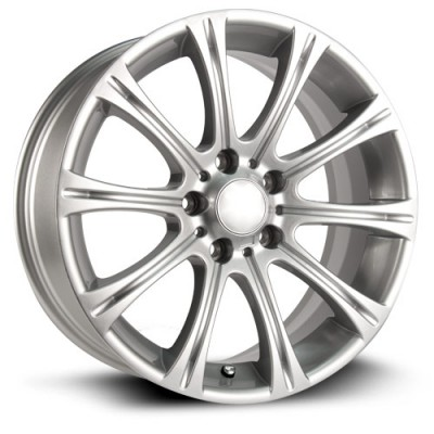 RTX Wheels Hamburg, Argent/Silver, 16X7.5, 5x120 ( offset/deport 35), 72.6 BMW