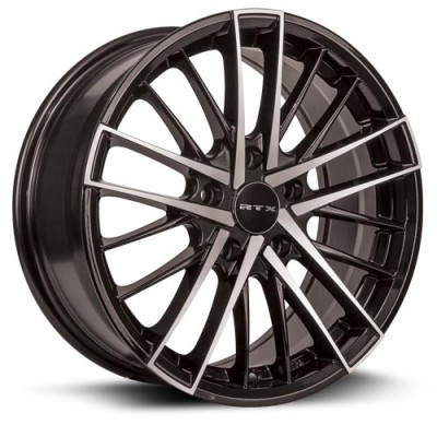 RTX Wheels Stix, Noir Machine/Machine Black, 17X7.5, 5x112 ( offset/deport 40), 66.6