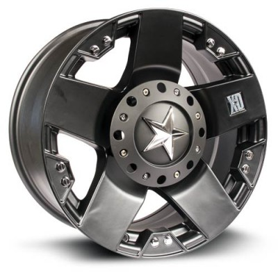 XD Series Rockstar Matte Black wheel (18X9, 8x165.1, 130, 0 offset)