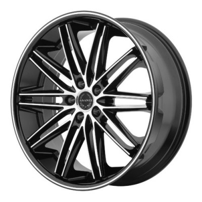 Asanti Black ABL-10 Machine Black wheel (20X10, 5x120, 74.10, 35 offset)