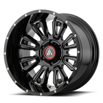Asanti Off Road AB808 Gloss Black Machine wheel (20X12, 5x127, 72.6, 48.6 offset)