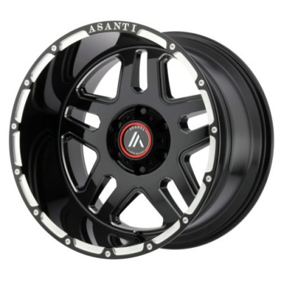 Asanti Off Road AB809 Gloss Black Machine wheel (17X8.5, 6x114.3, 72.6, 32.22 offset)