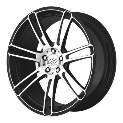 Cec Wheels C883 Matt Black Machine wheel (20X8.5, 5x112, 66.56, 37 offset)