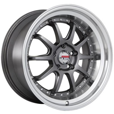 Dai Alloys Baller Machine Gunmetal wheel (18X9, 5x112, 66.6, 35 offset)