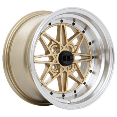Dai Alloys Party Hats Gold wheel (15X8, 4x100, 73.1, 0 offset)