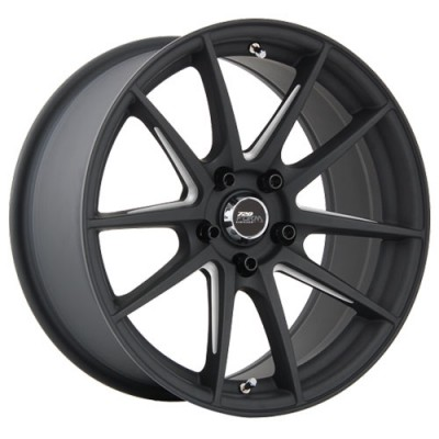 720 Form GTF1 Matt Black - Machined U-Beam Spokes/Noir mat - Branches usinées , 17X8.0, 5x100 ,(déport/offset35 )73.1