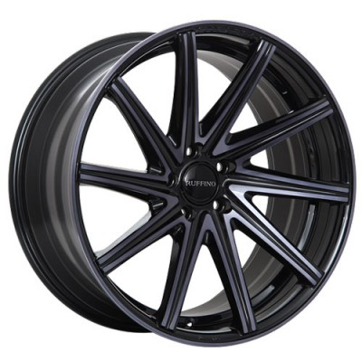 Ruffino Wheels Mistral Gloss Black Machine wheel (19X8, 5x114.3, 73.1, 45 offset)