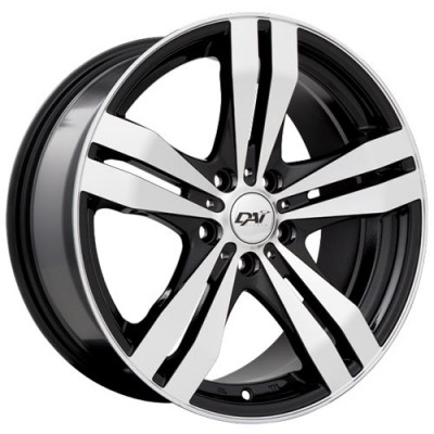 Dai Alloys Target Gloss Black - Machined Face/Noir lustré - Façade machinée, 14X6.0, 4x100 ,(déport/offset38 )73.1